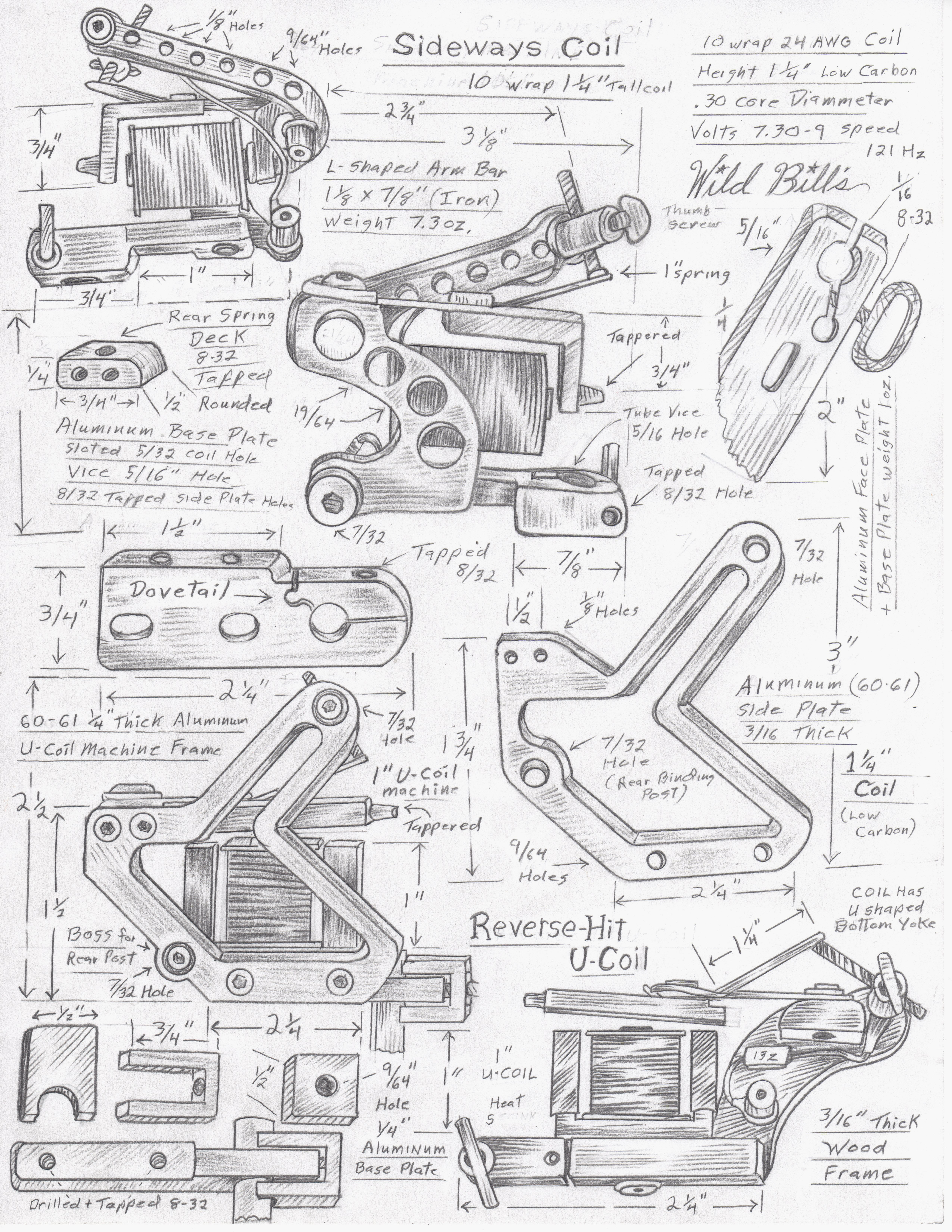 Tattoo machine frame blueprint frame design reviews home tattoo machine frame blueprint it took a lot of experimenting to find just the right size 22mf at 25v now malvernweather Choice Image